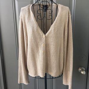 Eileen Fisher Italian Linen Knit Cardigan Sweater